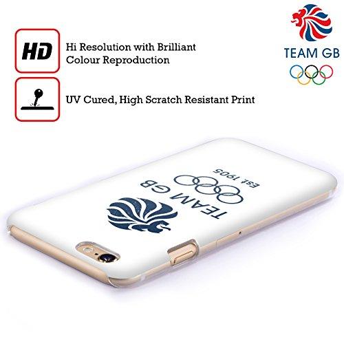 Official Team GB British Olympic Association EST Gold on Black Logo Hard Back Case for Apple iPhone X EST Indaco
