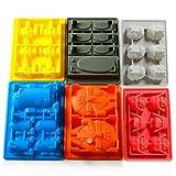 Eiswürfelform, Family Care 6er Set verschiedene Cartoon Formen Silikon Gussform Eiswürfel Silikonform, Ideal für Schokolade, Süßigkeiten, Götterspeise -