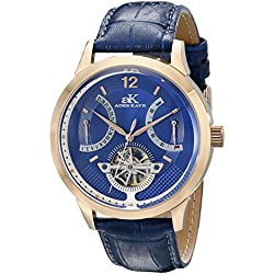 Adee Kaye Herren ak2241-mrg/BU PROSPERE Analog Display Automatische selbst wind blau Armbanduhr