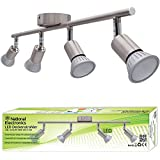 Lámpara de techo LED National Electronics Spot GU10 inclusive 3.5W 320lm LED Bombillas 4 Flama (14 Watts)