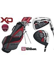 Wilson Profile XD Herren komplett alle graphit Golf Paket Set Deluxe Stand Bag + Gratis Golf Bälle