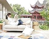 ZZXBH Tapete 3D Wanddeko Chinesischer Pavillon Der Landschaftsmalerei 3D Schlafzimmer Tapeten 300CMX210CM