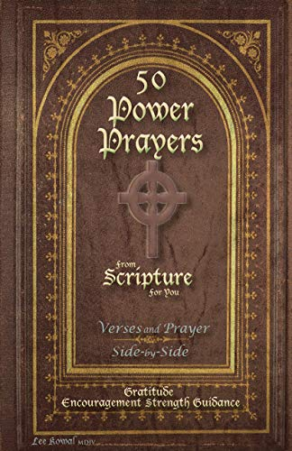 50 POWER PRAYERS from SCRIPTURE for YOU - Verses and Prayer Side-By-Side: Gratitude Encouragement Strength Guidance (Classic Cover with Cross) (English Edition) - Book Bible Classic Cover