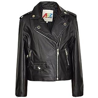 A2Z 4 Kids® Girls Jackets - PU Leather Jacket 460 Black 9-10