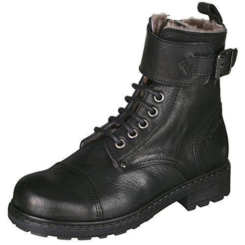 Momino 1407M Stiefel Boots Stiefeletten Mädchen, Schwarz (50653 Dakota Nero), 37