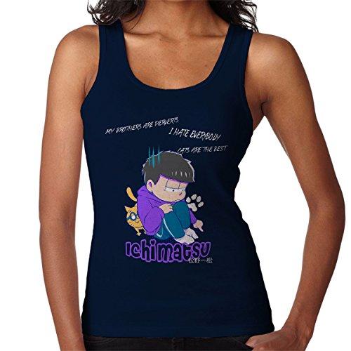 Im Not Crazy Harley Quinn Suicide Squad Women's Vest Navy blue