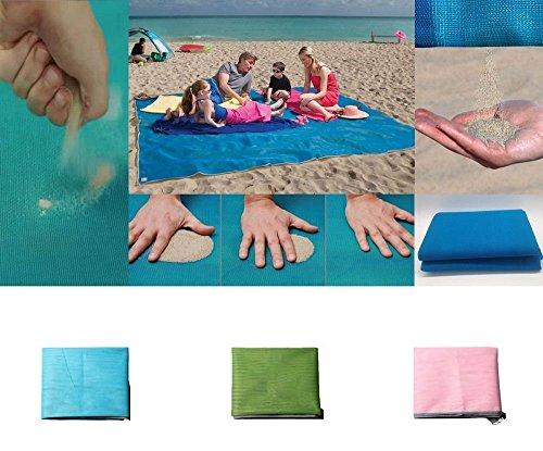 Tempo di saldi telo mare antisabbia elimina sabbia asciugamano coperta estate 200 x 150 cm