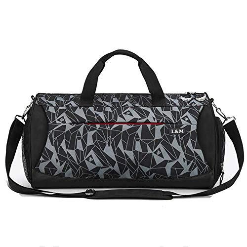 Herren Fitness Tasche Freizeit Travel Tote Bag große Kapazität Schulter Diagonale Reisetasche,Meteor Blue,L - Sportliche Travel Tote