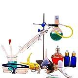 Labor magnetischer Rührer kleines Glasdestillations-gesetzter Elektrischer Ofen Reintau Reinigungs chemisches Laborgerät-Chemikalien-Instrument (Color : A)