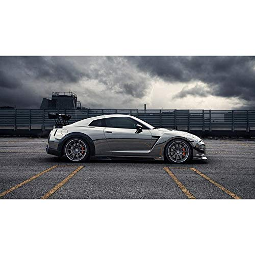 Avery SF100 Conform Chrome Black | 196-S | Vinyl CAR WRAP Film (53in x 1ft (4.4 Sq/ft)) w/Free-Style-It Pro-Wrapping Glove (Chrome Wrap Vinyl)