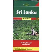 Sri Lanka : 1/400 000 Parcs naturels, Curiosités, Distances en km
