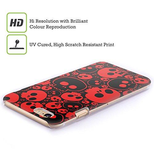 Head Case Designs Giallo Teschi Jazz Cover Retro Rigida per Apple iPhone 7 Plus / 8 Plus Rosso