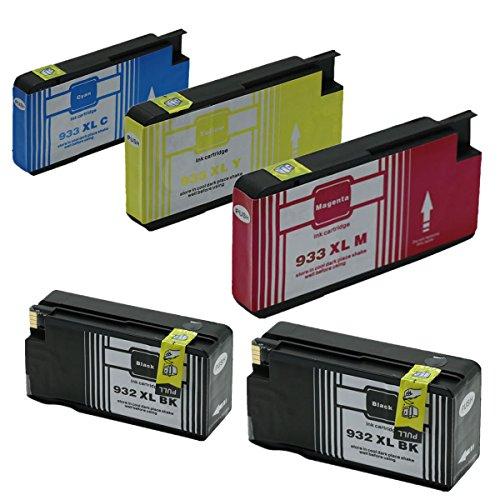 Preisvergleich Produktbild Generisch Kompatible Tintenpatronen Ersatz für HP 932XL 933XL 932 XL 933 für HP932 für HP933 für HP932XL für HP933XL Tintenpatronen Hohe Kapazität kompatibel für HP Officejet 6600 6700 6100 7612 7610 7110 Tintenpatronen für Inkjet Drucker (2 Schwarz,1 Cyan,1 Magenta, 1Gelb)