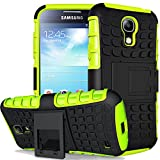 Nnopbeclik Samsung Galaxy S4 Hülle, Dual Layer Rugged Armor stoßfest Handy Schutzhülle Silikon Tasche für Samsung Galaxy S4 - Grün + 1x Display Schutzfolie Folie