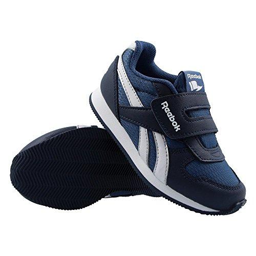 Garçons Baskets Cuir Reebok Royal CL Jogger Enfants Chaussures À Velcro Tout-petits Décontracté Bleu
