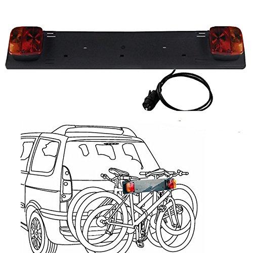 - Nummernschildbeleuchtung Hinten Bar mit Fahrradträger Fahrrad Licht CE 3754 (Porta Schüssel)