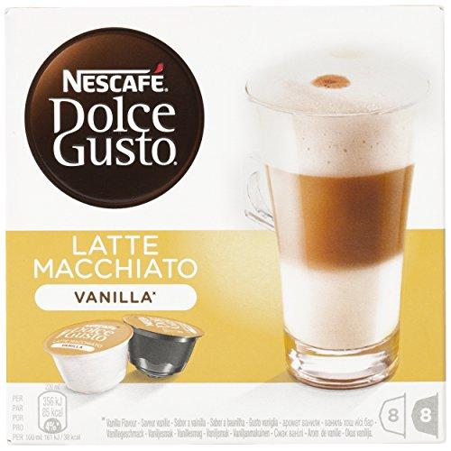Nescafé Dolce Gusto - Latte Macchiato Vanilla - 3 Paquetes de 16 Cápsulas - Total: 48 Cápsulas