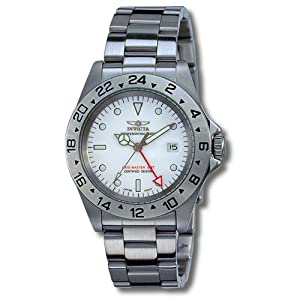 Invicta II Date Master GMT White Dial Mens Watch 9402 de Invicta