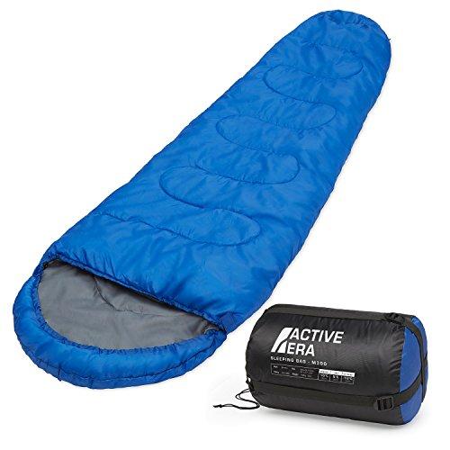Saco de dormir tipo momia (300 g/m²) 3-4 estaciones. Capucha y cuello con...