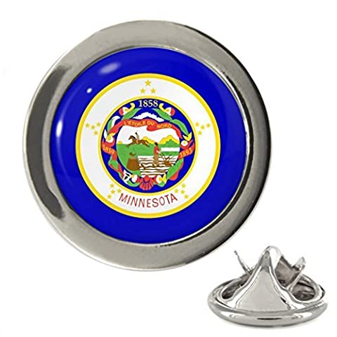 Minnesota US State Flag Metal Lapel