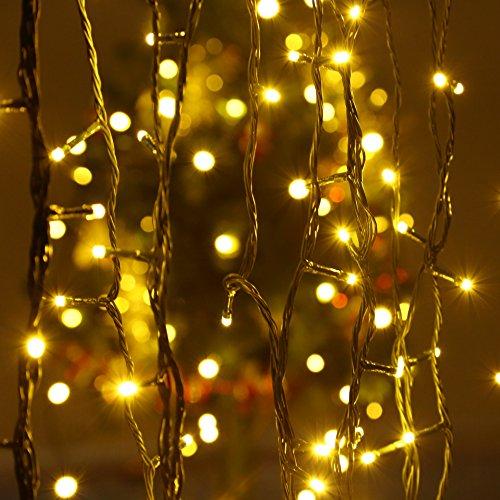 Solar Lichterkette LED Lichterkette infinitoo 20M 200er Lichterkette Warmweiß 8 Modi Dekorative Wasserfeste Beleuchtung für Terrasse, Party, Hochzeit, Camping, Weihnachten, Hof usw