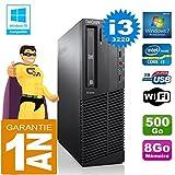 Lenovo PC M92p SFF Core I3-3220 RAM 8gb Scheibe 500 gb DVD-Brenner Wifi W7