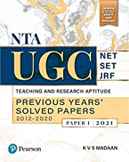 NTA UGC NET/SET/JRF: Teaching and Research Aptitude,Previous Years' 2021 | Second Edition | By Pea