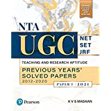 NTA UGC NET/SET/JRF: Teaching and Research Aptitude,Previous Years' 2021   Second Edition   By Pearson