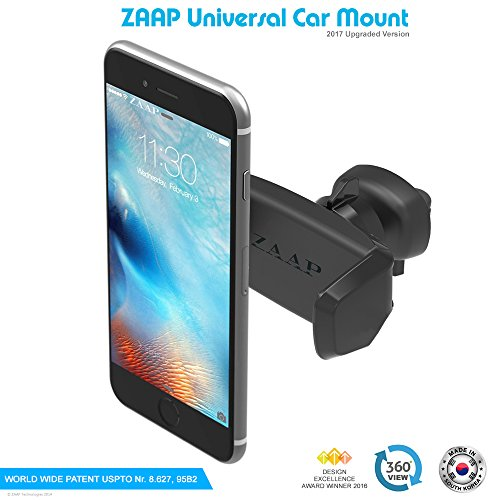 zaap easy vent one (3rd generation) premium car mount/air vent mount/car mobile holder universal compatible for smartphones ZAAP Easy Vent One (3rd Generation) Premium Car Mount/Air vent Mount/Car mobile holder universal compatible for Smartphones 51kni54AKAL
