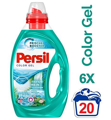 Persil Frischer Wasserfall Gel, Flüssigwaschmittel, 360° Reinheit & Pflege, 6er Pack (6 x 20 Waschladungen)