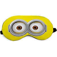 Crazy Corner Minion Eyes Printed Eye Mask/Sleep Mask for Relaxing/Meditation/Sleep/Travel For Women/Men/Girls/Kids (7.4…