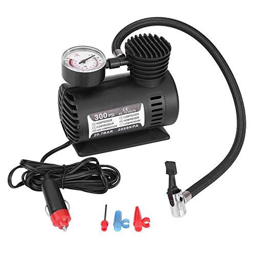 Qiilu 12V 300 PSI Mini Compresor de Aire Bomba eléctrica Inflable para neumáticos Portátil Emergencia para Coche/Moto
