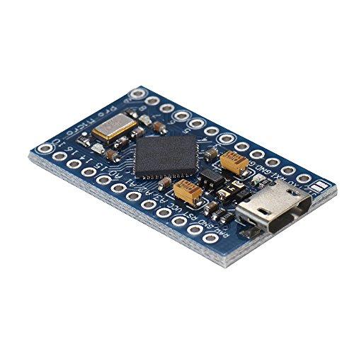 Generic Erweiterungskarte Promicro 5 V Entwicklungsboard Mikrocontroller Mini 16 M für Arduino 4 Kanal 10 bit ADC 5 PWM Pins 12 DIO