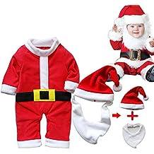 ARAUS Traje Navidad Santa Unisexo Beb¨¦ Disfraz Navidad Traje Pantalones 3/4 +