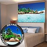 GREAT ART Insel im paradiesischen kristallklaren Wasser Wanddekoration - Wandbild Strand Motiv XXL Poster (140 x 100 cm)