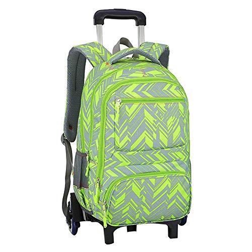 C-Xka Rollschultasche, wasserdichter Rollrucksack Elementary Students Rollentasche Primary School Bag Handgepäcktasche Drag and DropTasche für unterwegs mit Rädern -