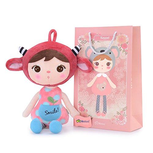 Metoo Stofftier Plüsch Schaf Spielzeug Puppe - Plüsch Baby Mädchen Puppen Geschenke 16