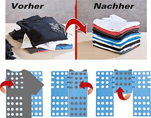 PEARL Wäschefaltbrett: Wäsche-Faltbrett für Hemden & Co, 68 x 57 cm, blau, klappbar (Falthilfe)