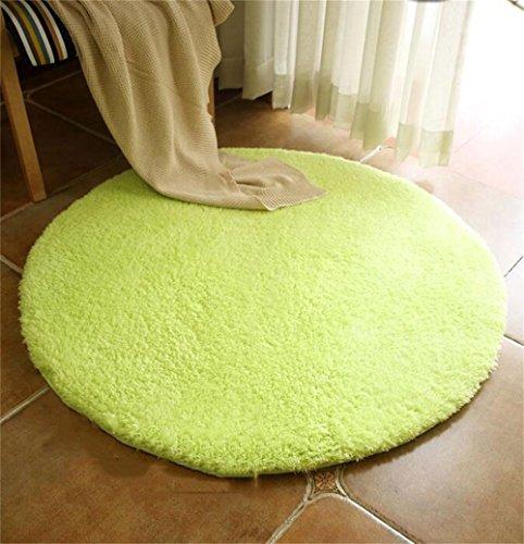QAZ Teppich Farbe runden Teppich Wohnzimmer Schlafzimmer Sofa Studie Garderobe Teppich Fuß Pad Office Computer Schreibtisch und Stuhl Kissen rutschfester Bodenbelag (color:#5, Größe: Durchmesser 160cm) (Home-teppich-pads)