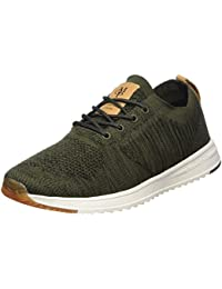 Marc O'Polo Sneaker 80223713503601, Baskets Homme, Vert Olive, 44 EU