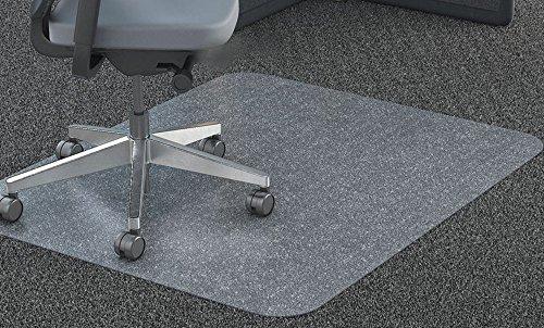 Preisvergleich Produktbild Klar Stuhlunterlage für mit niedriger bis Mittelhoher Florhöhe Teppich Böden, rechteckig, Hohe Schlagzähigkeit, rutschfest, non-recycling Material, 90x120cm (3'x4')
