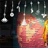 RALCAN Frohe Weihnachten Schlitten Baum Strumpf Glocken Wandaufkleber Raumdekor 2 DIY Vinyl Geschenk Startseite Decals Festival Wandbild Kunst Poster, 2