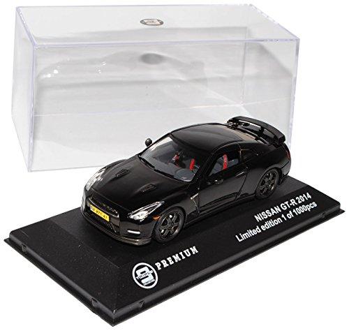 alles-meine.de GmbH Nissan Skyline GT-R R35 Coupe Schwarz Ab 2008 limitiert 1 von 1000 Triple 9 1/43 Ixo Modell Auto mit individiuellem Wunschkennzeichen (Papier Modell Autos)