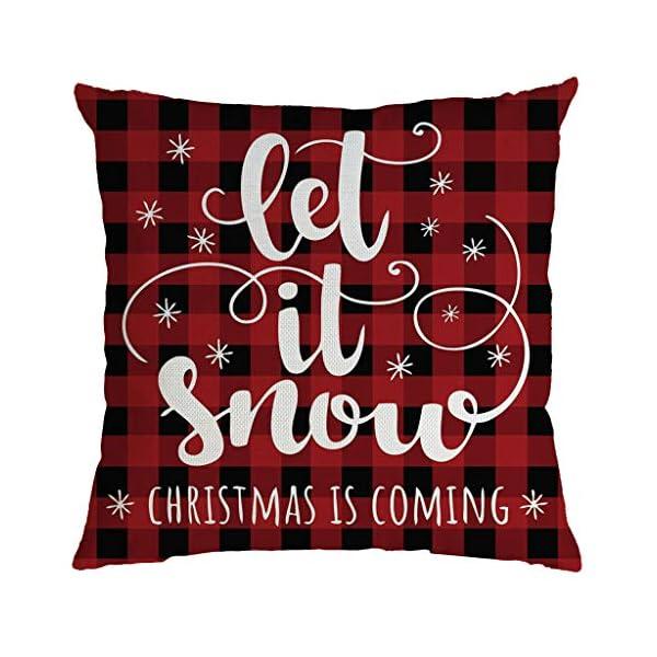 IJKLMNOP Christmas Pillow Square Pillow Case Lino Mat 45x45cm es Adecuado para oficinas, Casas, automóviles, cafeterías… 1