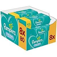 Pampers Fresh Clean Feuchttücher, 8er pack (8 x 80 Feuchttücher)
