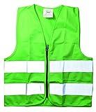 OK Cars kiinn211Chaleco de tiempo libre para niños, universal, con reflector rayas, Verde, One size