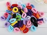 Cuhair (TM) 100pcs 3cm Cute assorties Mix Couleur Fille bébé Kid élastique Force guides de queue de cheval Cheveux cravates Bandes de corde en caoutchouc Chouchou Accessoires