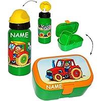 Preisvergleich für alles-meine.de GmbH 2 TLG. Set _ Lunchbox / Brotdose & Trinkflasche - Traktor & Bauernhof - mi..