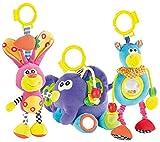 Playtastic Plüsch-Figuren: Wilma, Tom & Fridolin: Spielzeugtrio für Kleinkinder (Schmuse-Tier)