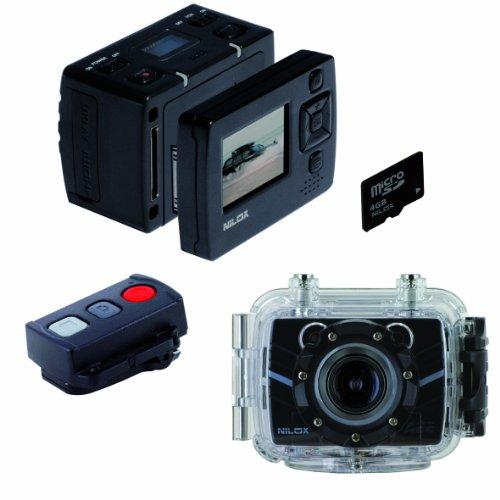 Nilox Foolish Special Action Cam, 1080p, Display 1.5 Pollici TFT, Nero